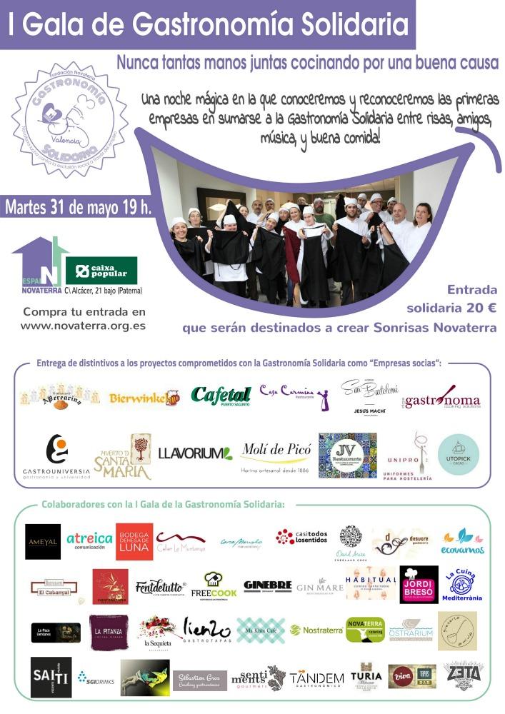 I Gala de la Gastronomía Solidaria impulsada por Fundación Novaterra