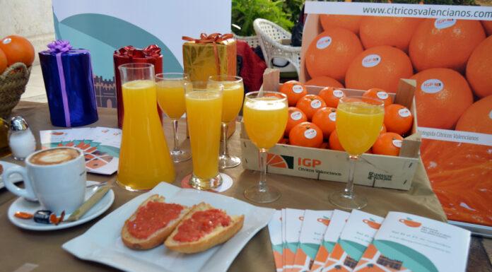 40 cafeterías obsequiarán a sus clientes con zumo de naranja valenciana durante la semana del desayuno valenciano