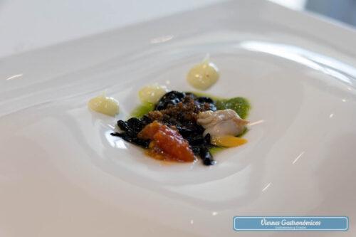 Restaurant L'Antic Molí - Jornadas de la Galera 2017 - Fideos negros de galera con berberechos, tomate, ajo y perejil