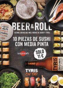 Beer & Roll: noche de Sushi y Tyris