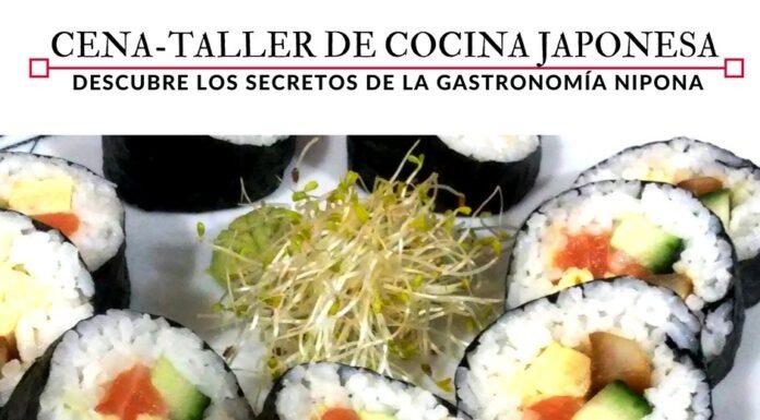 Cena - taller de cocina japonesa en la escuela de cocina Eneldo