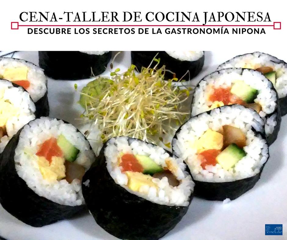 Cena taller de cocina japonesa en la escuela de cocina for Taller de cocina teruel
