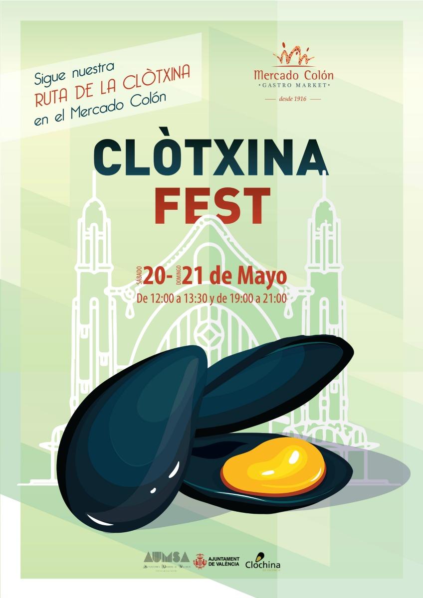 El Mercado Colón rinde homenaje a la clòtxina valenciana