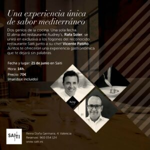 Comida a 4 manos entre Vicente Patiño y Rafa Soler en Saiti