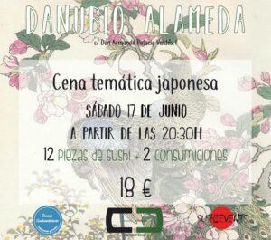 Cena temática japonesa en Danubio Alameda (Valencia)