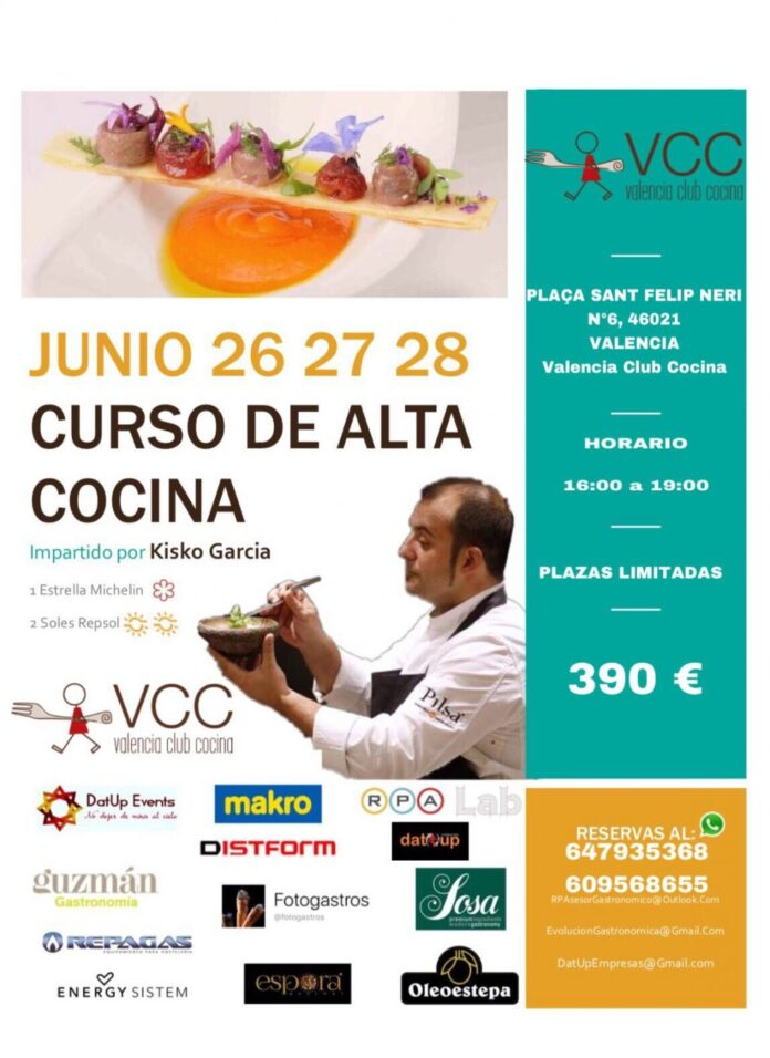 Curso de alta cocina con kisko garc a en valencia club cocina - Valencia club de cocina ...