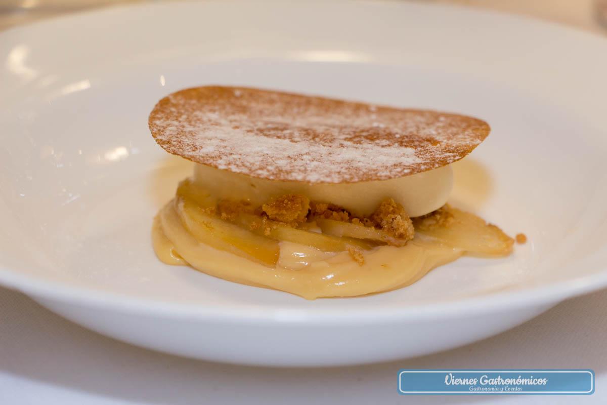 Albaricoque asado, mantequilla dulce y hierba luisa - Restaurante Saiti