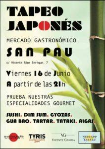 Jornada del tapeo japonés del Mercado San Pau (Valencia)