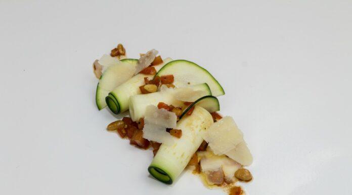 La receta de los Viernes: Carpaccio de calabacín y parmesano