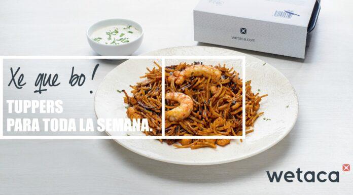 Wetaca, la empresa de tuppers de chef a domicilio, llega a Valencia