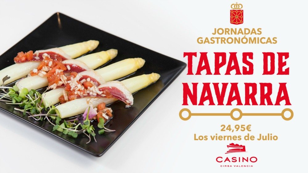 Las tapas de Navarra, protagonistas de julio en Casino Cirsa Valencia