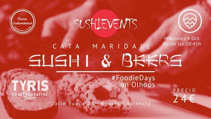 Cata - maridaje: Sushi & Beers en Olhöps