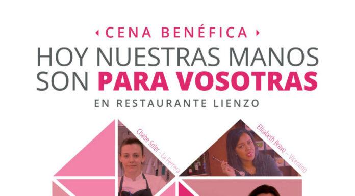 Las cocineras Mª José Martínez, Begoña Rodrigo, Carito Lourenço y Chabe Soler se unen contra la violencia de género