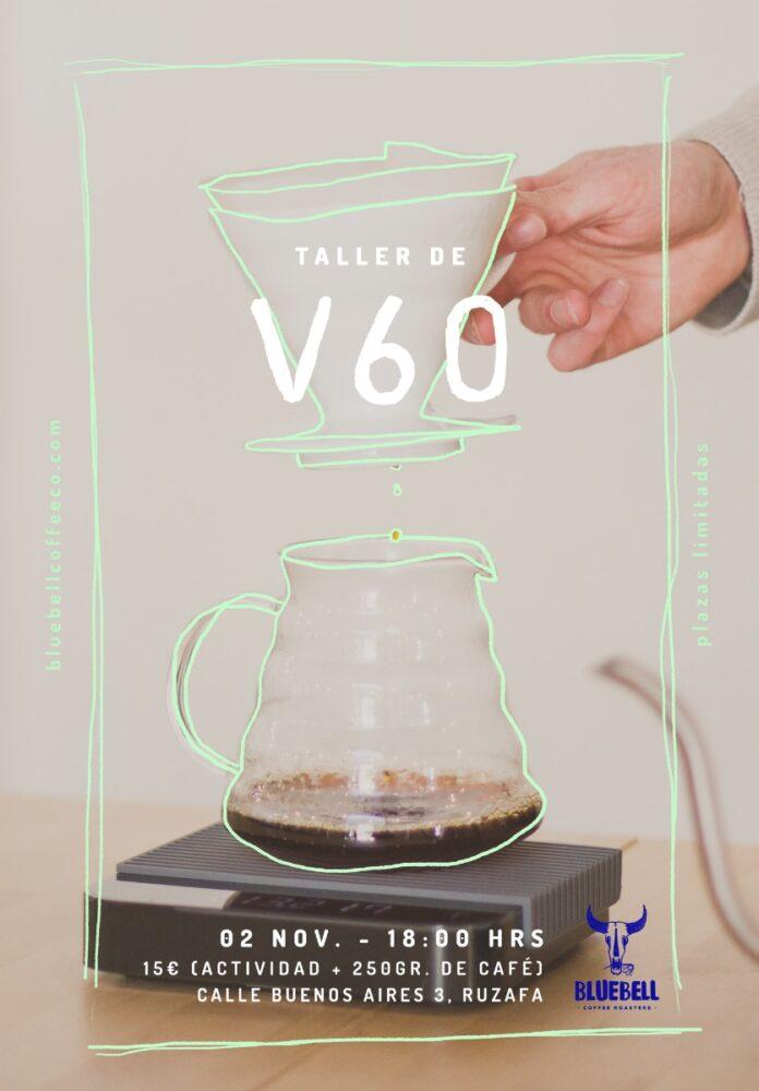 Taller de cafés filtrados mediante V60 en Bluebell Coffee