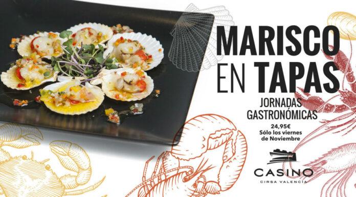 Homenaje al marisco a través de las tapas, todos los viernes de noviembre en Casino Cirsa Valencia