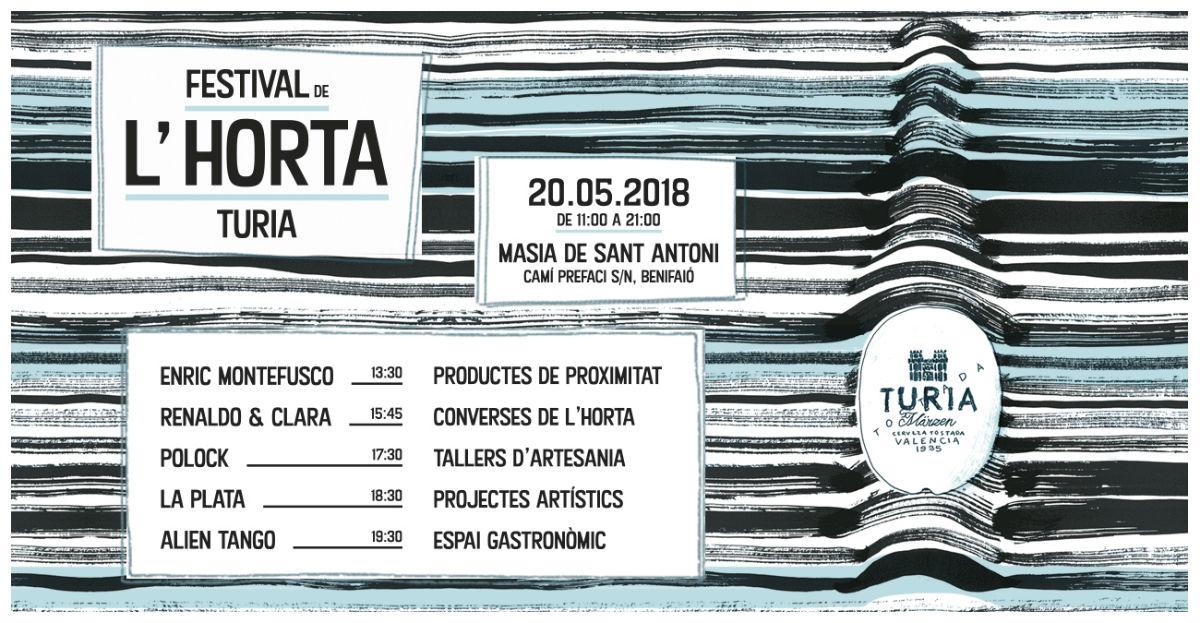 Llega la 2ª edición del 'Festival de l'horta Turia' - Cartel
