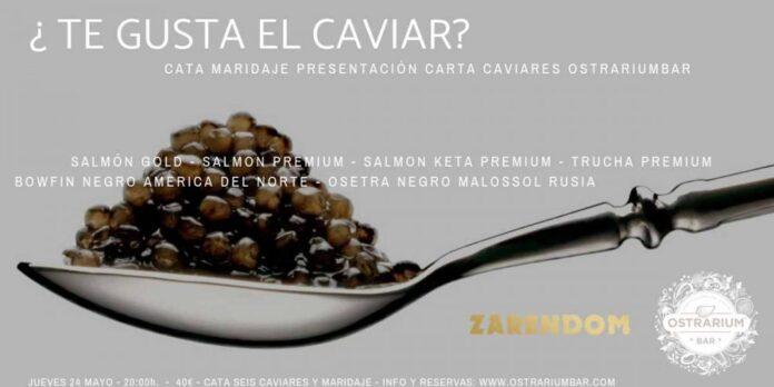 Taller de maridaje de caviar en Ostrarium Bar (Valencia)