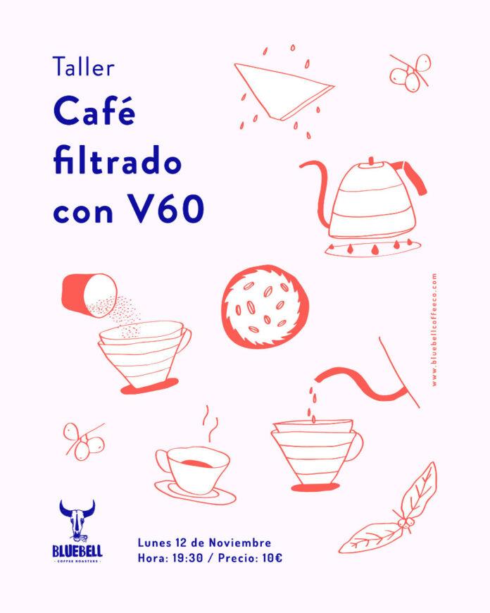 Taller café filtrado con V60 en Bluebell Coffee