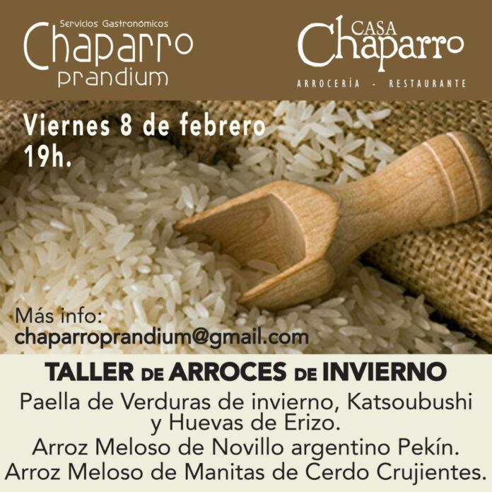 Taller de arroces de invierno en Casa Chaparro